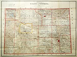 State of Wyoming Map: A.F. Dinsmore