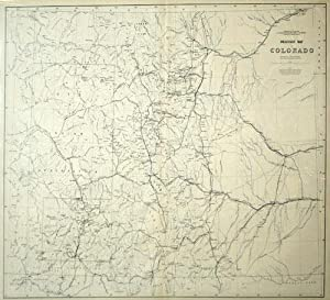 Drainage Map of Colorado, Department of the Interior US Geological and Geographical Survey of the ...