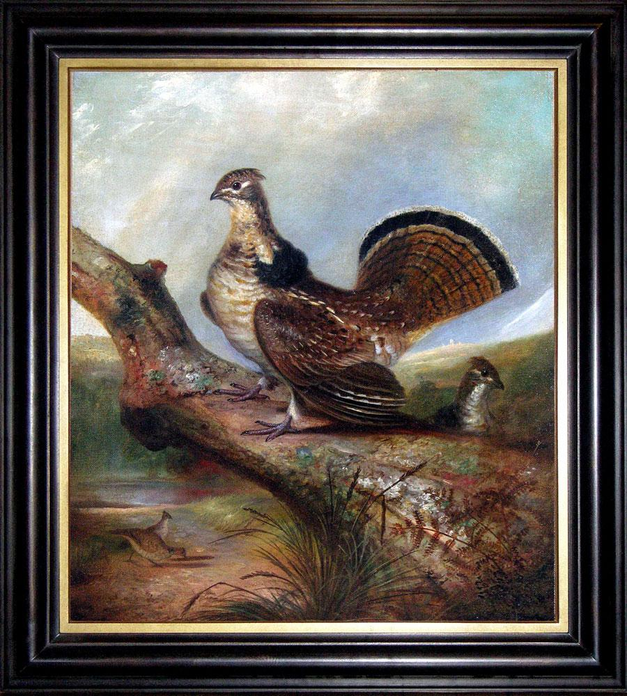a ruffed grouse oil painting state bird of pennsylvania no