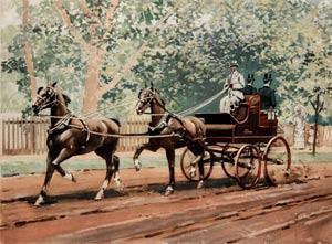Tandem Shooting Cart: W.S. Vanderbilt Allen