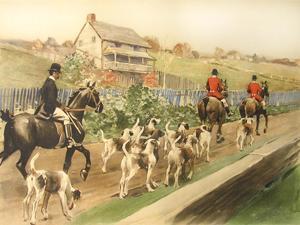 The Essex County Hounds Going to Cover: W.S. Vanderbilt Allen