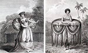 Habit of a Young Woman of Otaheite Bringing a Present; Habit of a Young Woman of Otaheite Dancing: ...