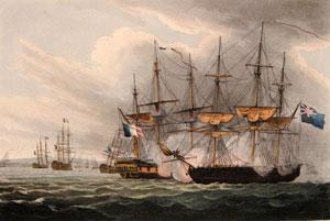 Destruction of the French Fleet in Basque Roads, April 12th 1809: Thomas Whitcombe