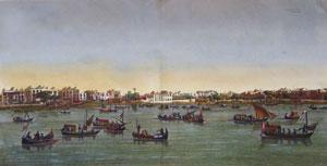 Pl. 42 Le Kaire: Vue de la Place Ezbekyeh; cote de l'ouest et du nord-ouest from Description ...
