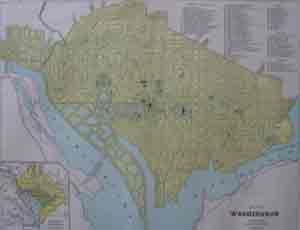 Map of Washington: George F. Cram