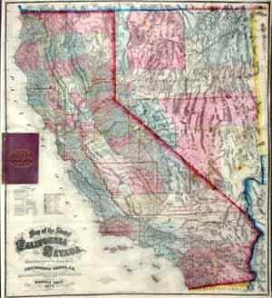 Map of the States of California and Nevada: Warren Holt