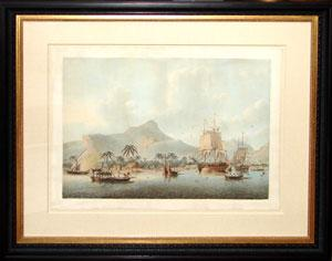 A View of Huaheine (Society Islands): John Cleveley (1747-86)
