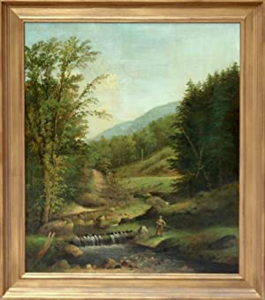 Untitled [Rural fishing scene]