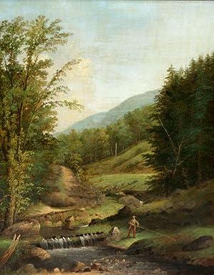 Untitled [Rural fishing scene]: George Henry Durrie (1820-1863)