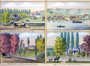 Residence of Reuben Cox, Boise Valley, Idaho/Walter and McQuat's Ferry, Over Snake River, ...