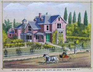 Home Villa of Gen. L.F. Carteé. Cor. Fourth and Grove Sts. Boise City, I.T.: Thompson and ...