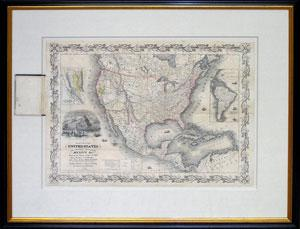 Colton?s Map of United States, The British Provinces, Mexico, etc., Showing the Gold Regions in C...