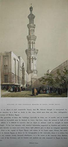 Minaret of the Principal Mosque in Siout, Upper Egypt: Daivd Roberts