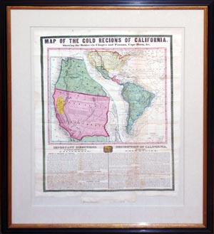Map of the Gold Regions of California,: Ensign & Thayer
