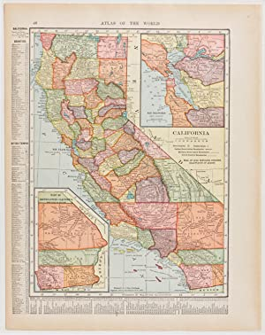California with Inset of San Francisco Bay & Southeast Region