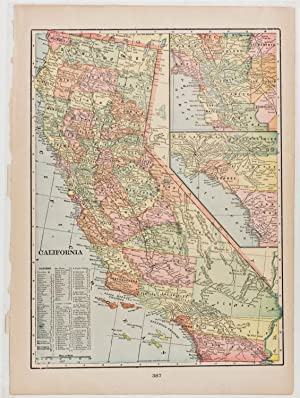 California with inset of Southern California & San Francisco Bay Region (1899)