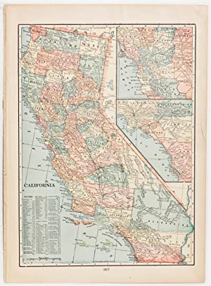 California with inset of Southern California & San Francisco Bay Region (1902)