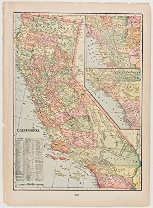 California with inset of Southern California & San Francisco Bay Region (1903)