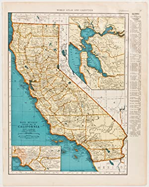 California with insets of Los Angeles Region & San Francisco Bay