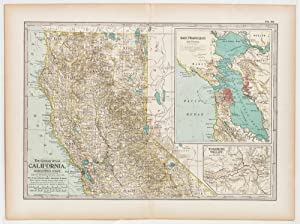 California; Northern Part with insets of San Francisco Bay & Yosemite Valley
