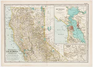 California; Northern Part with insets of San Francisco Bay & Yosemite Valley (1899)