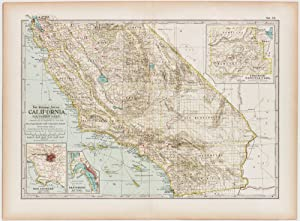 California; Southern Part with insets of Los Angeles, San Diego & Yosemite National Park (1898)
