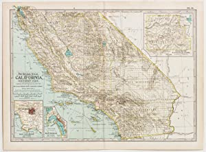 California; Southern Part with insets of Los Angeles, San Diego & Yosemite National Park (1899)