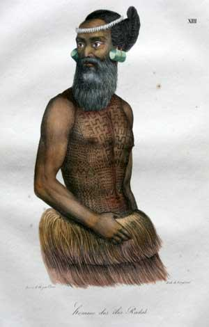 homme des iles Radak, Pl. XIII: Louis Choris (1795-1828)
