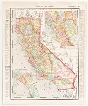 California with insets of Southern & Central Regions (1900)