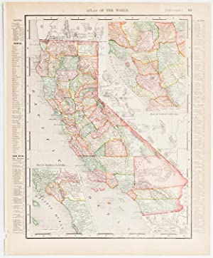 California with insets of Southern & Central Regions (1905)