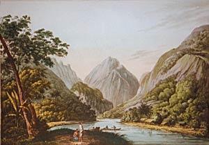 A View in Ohetepeha Bay, in the island of Otaheite (Tahiti): John Webber (1751-1793)