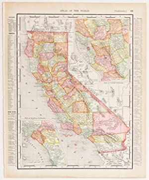 California with insets of Southern & Central Regions (1906)