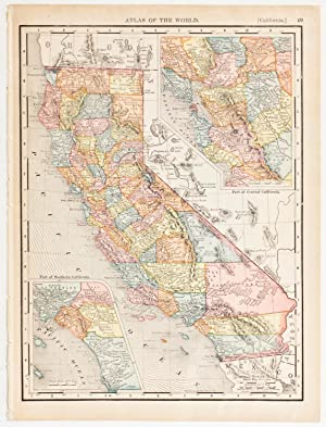 California with insets of Southern & Central Regions (1907)