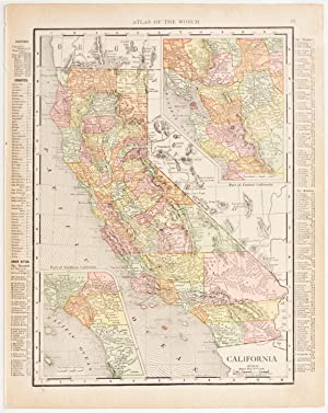 California with insets of Southern & Central Regions (1912)