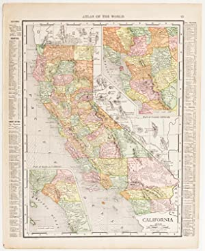 California with insets of Southern & Central Regions (1916)