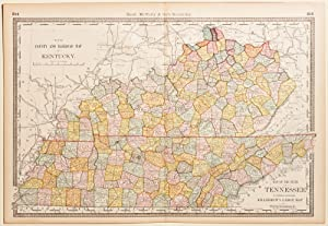 A New County & Railroad Map of Kentucky & State Map of Tennessee