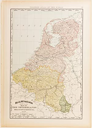 Rand McNally's Map of the Netherlands, Belgium & Luxembourg
