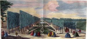 Plate 104, Vue du parterre du Chateau de Rambouillet