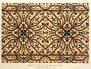 Inlaid Wood of the 15th Century, In Sta. Maria in Organo at Verona. (Size of Original.): Lewis ...
