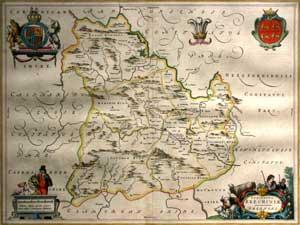 Comitatus Brechiniae; Breknoke: Willem Blaeu