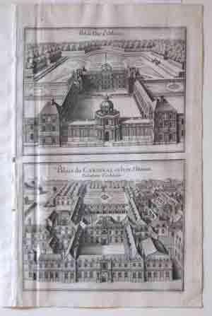 Pal. de Duc d' Orleans and Palais du Cardinal en la ru St. Honore: Merian
