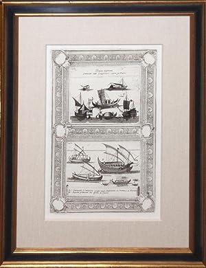 146 - Barche Differenti praticate dalli Giapponesi Sopra gli Fiumi (ship engraving): Vincenzo ...