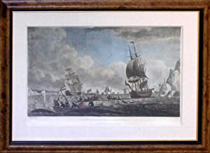 """The North West or Davis's Streights Whale Fishery"""" (Greenland whaling scene): Robert Dodd (1748-..."""