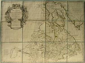 Carte Du Canada Ou De La Nouvelle France: Guillaume De L'Isle