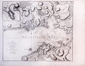Plan of the Town and Citadel of Fort Royal the Capital of Matinico with the Bay of Cul de Sac Royal