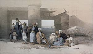 Entrance to the Temple of Amun, Thebes: David Roberts