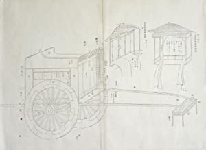 Japanese Carriage watercolor with stencil print: unknown, Japan