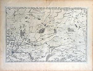 Carte Particuliere des Environs de Lier et d'Une Partie de la Campine: FRICX, E.H.