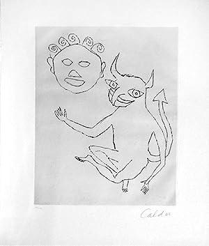 Untitled etching from the Santa Clause portfolio (98/175): Alexander Calder (1898-1976)