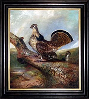 A Ruffed Grouse (oil painting, state bird of Pennsylvania)